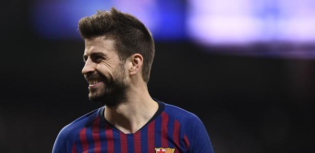 Após eliminar o Real em pleno Santiago Bernabéu, Piqué criticou postura da imprensa de Madri - Oscar Del Pozo/AFP