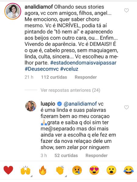 Luana Piovani responde seguidora sobre relação de Scooby e Anitta - Reprodução - Reprodução