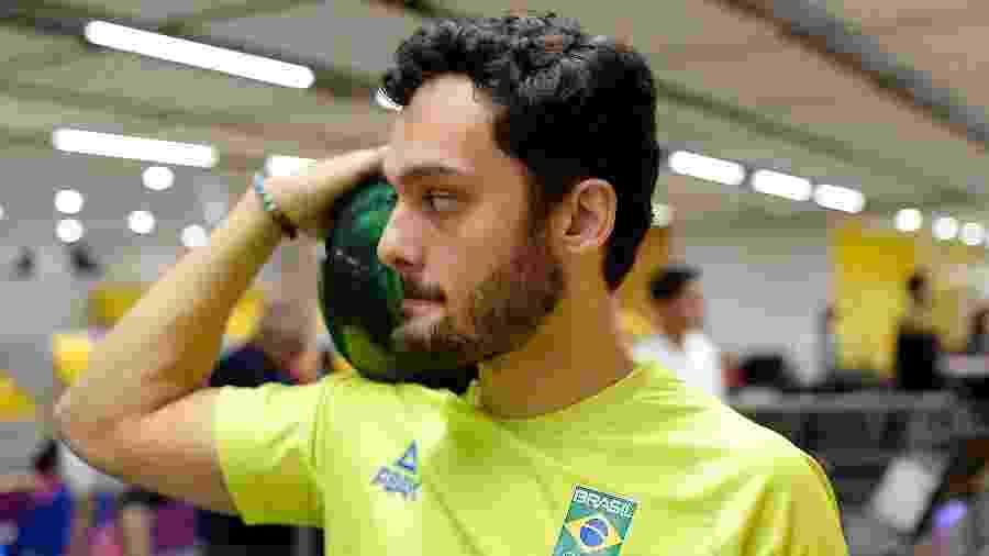 Marcelo Suartz durante treinamento de boliche para os Jogos Pan-Americanos de Lima - Alexandre Loureiro/COB