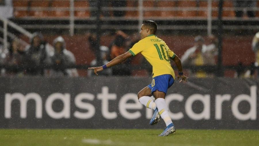 Pedrinho comemora gol da seleção sub-23 - Mauro Horita/CBF