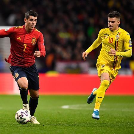 Jogo entre Espanha e Romênia nas eliminatórias da Eurocopa -  PIERRE-PHILIPPE MARCOU / AFP