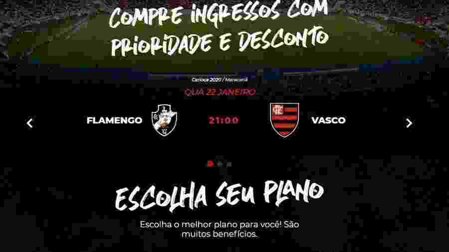 Flamengo cometeu gafe e trocou de escudos com o Vasco ao divulgar clássico de quarta - Reprodução