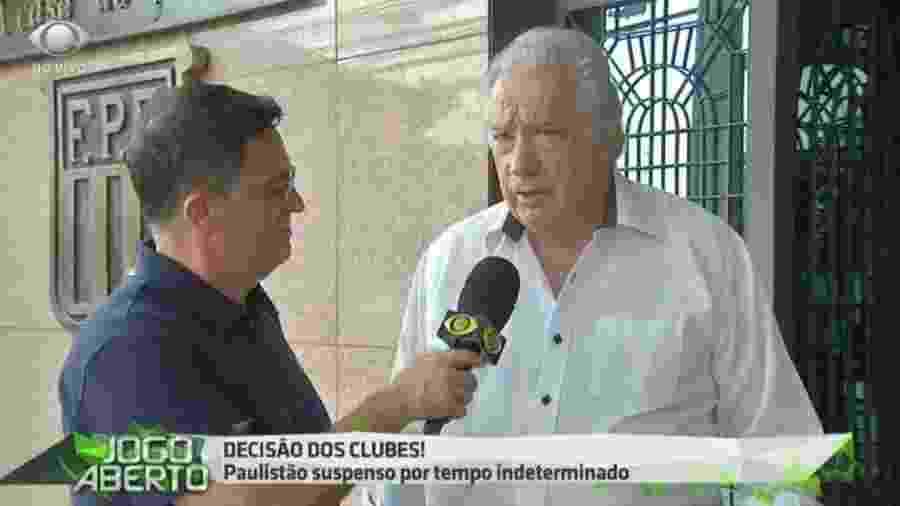Presidente Sidney Riquetto, do Santo André - Reprodução/Bandeirantes