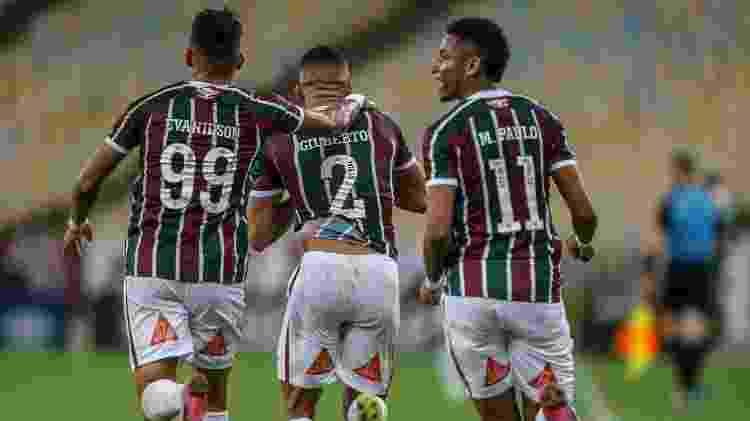 Evanílson e Marcos Paulo voltaram a atuar juntos por dentro, e Fluminense foi mais perigoso no ataque - Lucas Merçon/Fluminense FC - Lucas Merçon/Fluminense FC