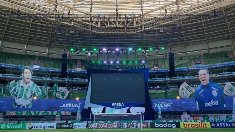 Allianz Parque, antes da final do Campeonato Paulista - Divulgação