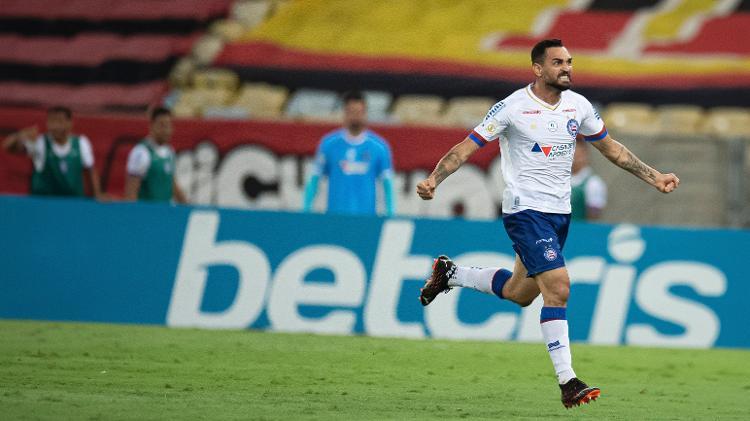 Gilberto, centroavante do Bahia, é um nome que agrada à diretoria do São Paulo - Jorge Rodrigues/AGIF - Jorge Rodrigues/AGIF