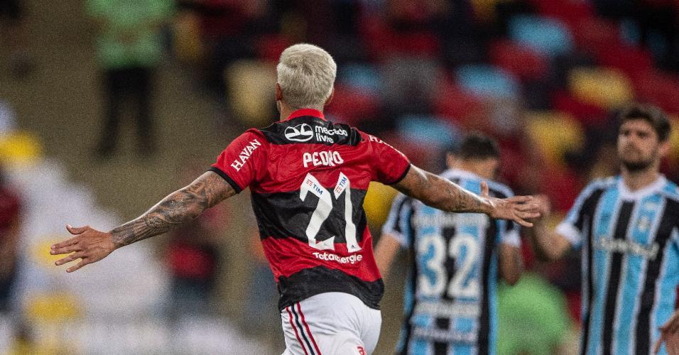 Pedro marcou os dois gols do Flamengo na vitória diante do Grêmio, pelas quartas de final da Copa do Brasil