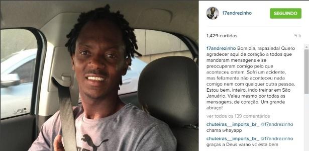 Andrezinho comemorou a vitória - Divulgação / Instagram