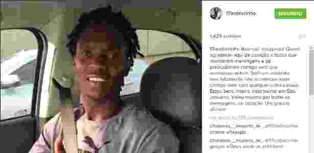 Andrezinho posta foto e tranquiliza torcedores após o acidente com seu veículo - Divulgação / Instagram - Divulgação / Instagram