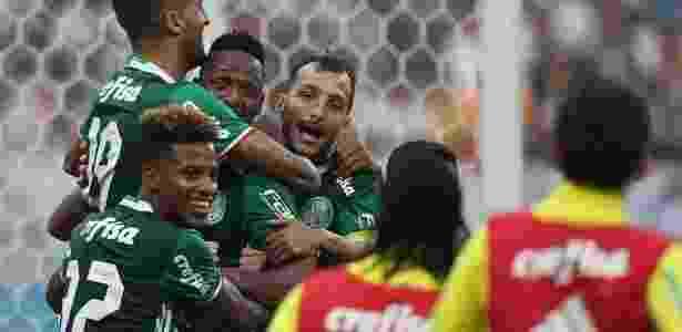 Palmeiras comemora gol contra o Corinthians: bom retrospecto em clássicos - Palmeiras/Flickr/Divulgação