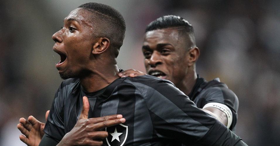 Kanu comemora gol marcado para o Botafogo contra o Corinthians, na final do Brasileirão Sub-20