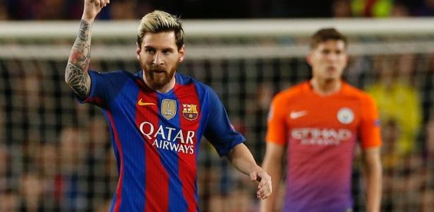 Argentino marcou três gols na vitória por 4 a 0 sobre o Manchester City - Albert Gea/Reuters