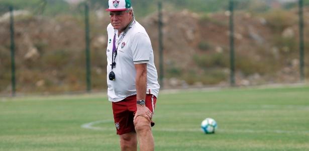 Técnico Abel Braga tem sido peça importante para manutenção do bom ambiente  - Nelson Perez/Fluminense