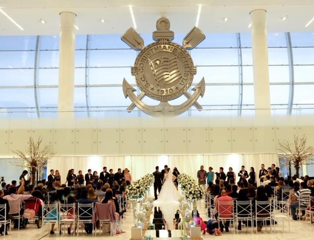 Arena Corinthians recebeu sua primeira cerimônia de casamento no sábado - Leandro Donato/Divulgação