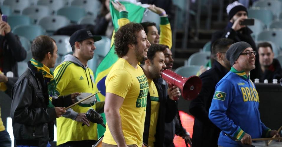 Torcida da seleção brasileira chega para duelo com Austrália