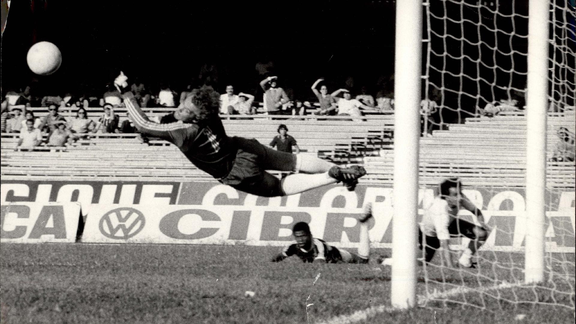 Emerson Leão em jogo do Palmeiras