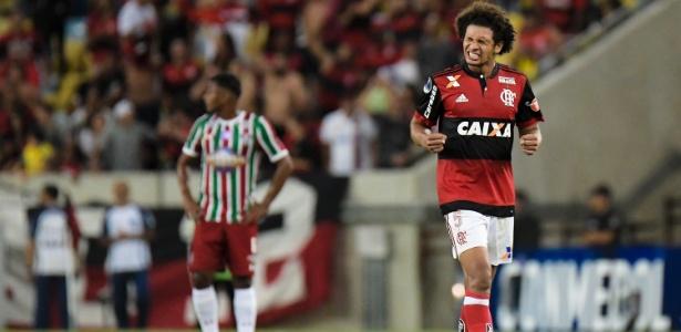 Willian Arão durante o jogo entre Flamengo e Fluminense na Copa Sul-Americana
