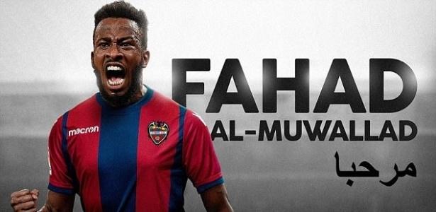 O Levante anuncia a contratação do atacante árabe Fahad Al-Muwallad