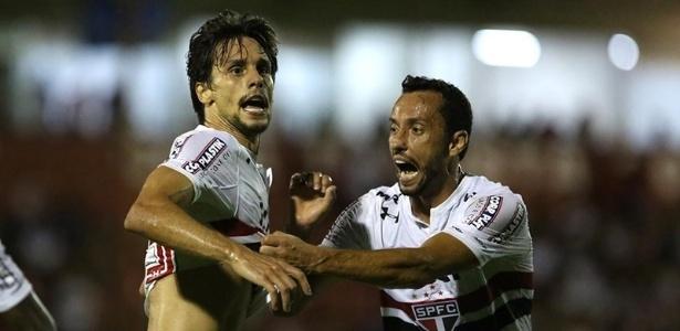 Nenê deu assistência para um dos gols de Rodrigo Caio em 2018