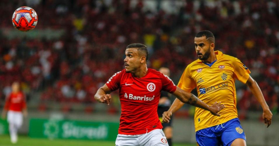 Pottker, durante partida entre Inter e Pelotas