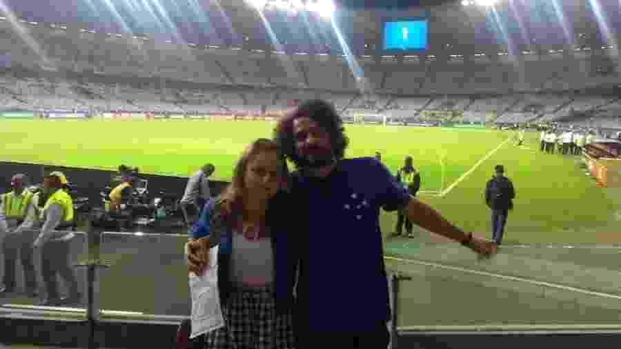 Anderson Batista foi com a namorada assistir Brasil 2 x 0 Argentina, mas passou quase todo o jogo em delegacia do Mineirão após ser alvo de injúria racial por parte de torcedor argentino - Acervo pessoal