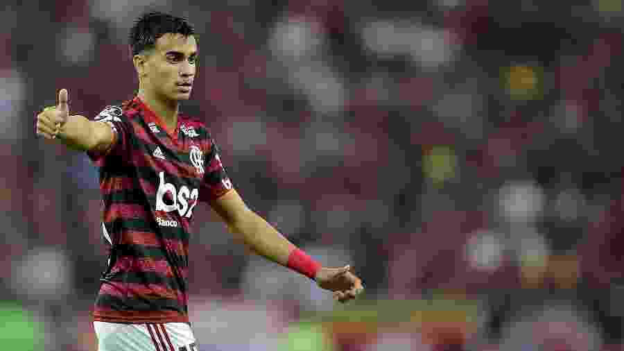 Reinier, jogador do Flamengo, durante partida contra o Emelec no estadio Maracanã pela Libertadores - Thiago Ribeiro/AGIF