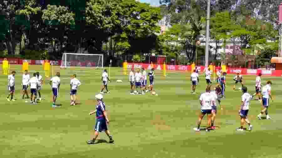 Jogadores do São Paulo treinam no CT da Barra Funda - Arthur Sandes/UOL