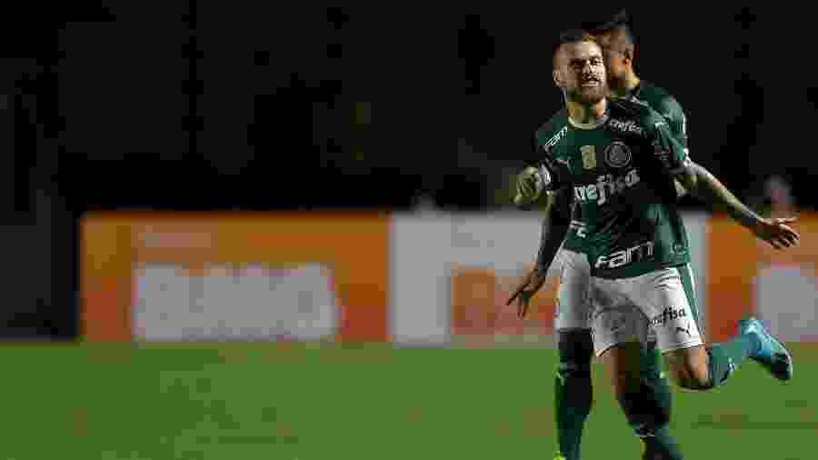 Lucas Lima comemora gol do Palmeiras contra o Vasco -  Thiago Ribeiro/AGIF