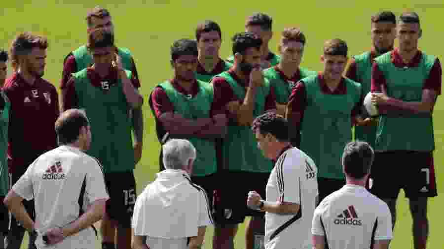 Treino do River Plate em Lima, no Peru - Guadalupe Pardo/Reuters