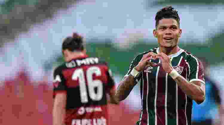De volta ao time titular, Evanílson marcou o gol do Fluminense contra o Flamengo - Thiago Ribeiro/AGIF - Thiago Ribeiro/AGIF