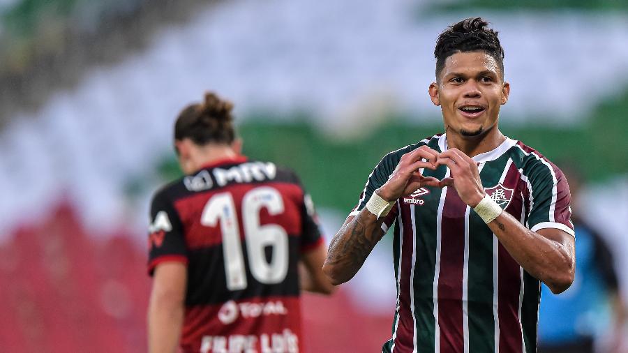 Evanilson aproveitou bem a oportunidade do Fluminense e criou problema para escalação do time tituar - Thiago Ribeiro/AGIF