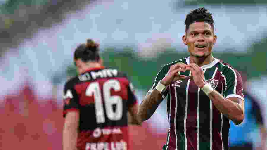Evanílson deixou o dele contra o Fla; atacante melhorou Fluminense de Odair Hellmann na final do Campeonato Carioca - Thiago Ribeiro/AGIF