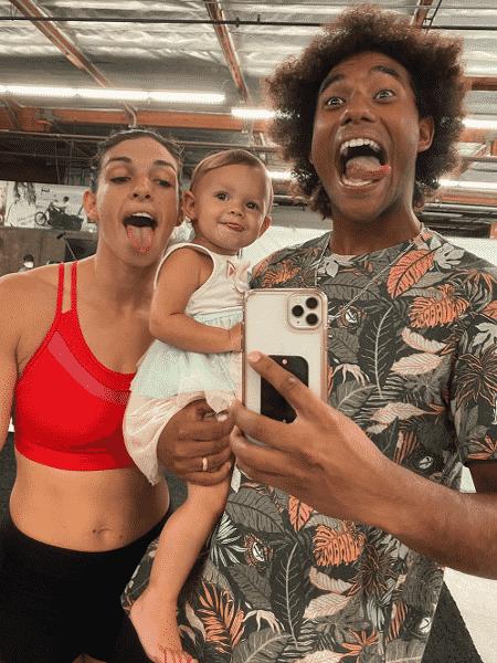 Mackenzie Dern, Moa e Wesley Santos - Reprodução/Instagram - Reprodução/Instagram