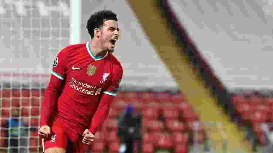 Curtis Jones comemora gol do Liverpool contra o Ajax, pela Liga dos Campeões - PA Images via Getty Images