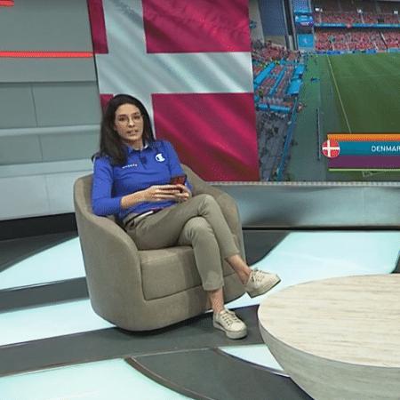 Renata Silveira afirmou que apertou a mão de Paulo Nunes após desmaio de Eriksen - Reprodução/SporTV