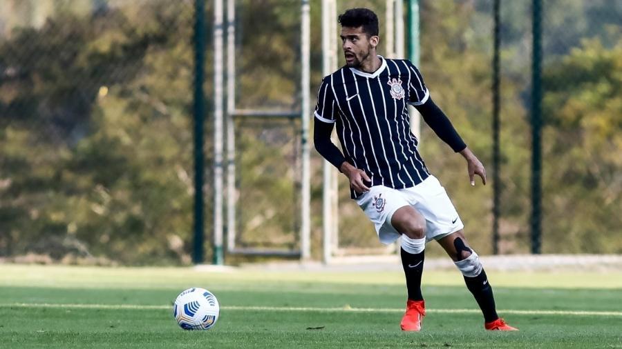 Léo Santos em ação pela equipe sub-23 do Corinthians  - Rodrigo Gazzanel/ Ag. Corinthians