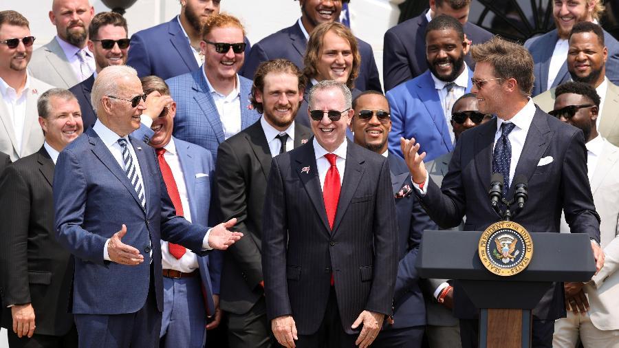 Tom Brady discursou durante visita do Tampa Bay Buccaneers à Casa Branca - REUTERS