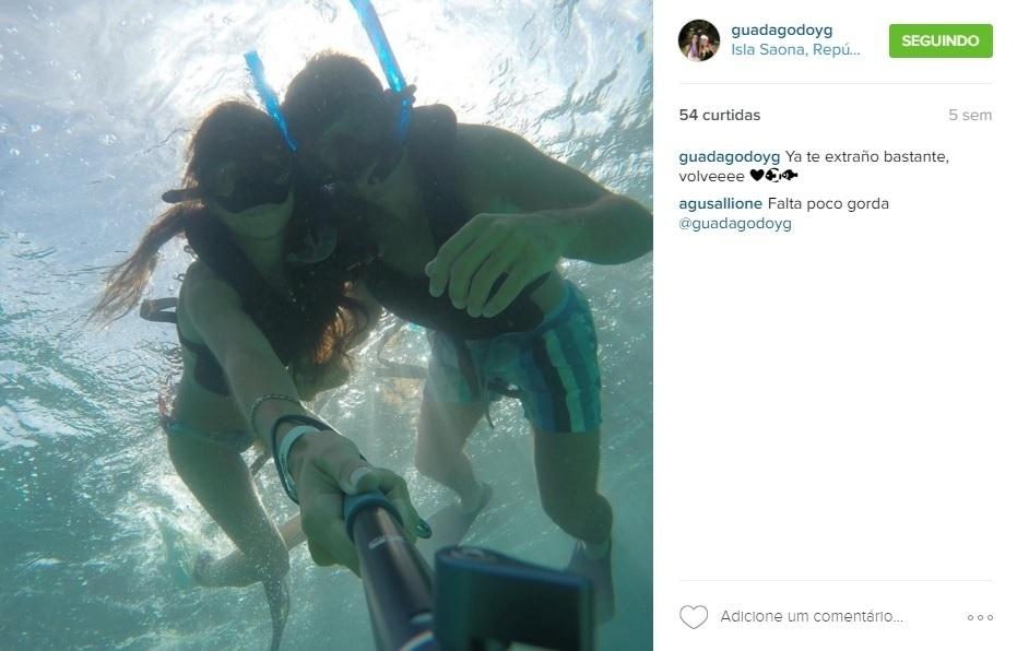 Agustín Allione e a namorada, Guada Guerrieri