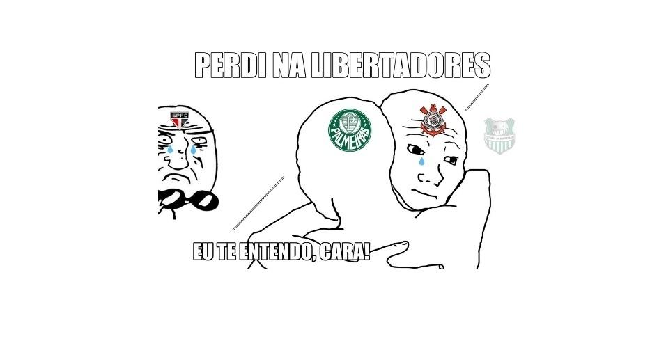 Corinthians e Palmeiras perdem na Libertadores e internautas não perdoam