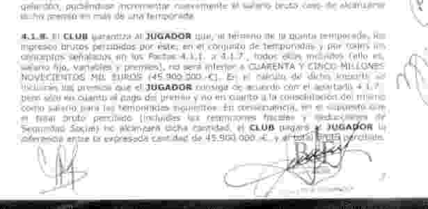 Cláusula do contrato de Neymar informa que o jogador receberá um mínimo de 45,9 milhões de euros no Barça - Reprodução - Reprodução