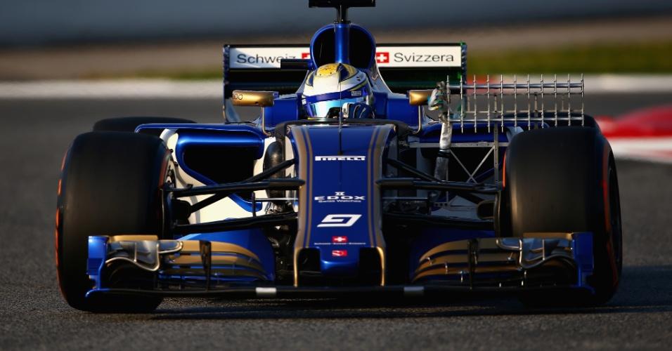 Com Marcus Ericsson, a Sauber começou os testes já fazendo avaliações aerodinâmicas