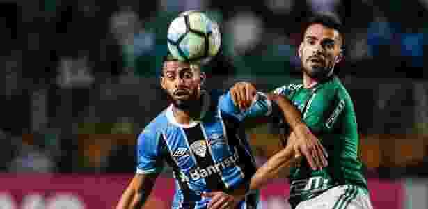 1b0e8f5e58 Palmeiras e Grêmio também se enfrentaram no Pacaembu em 2017 Imagem  Ale  Cabral AGIF