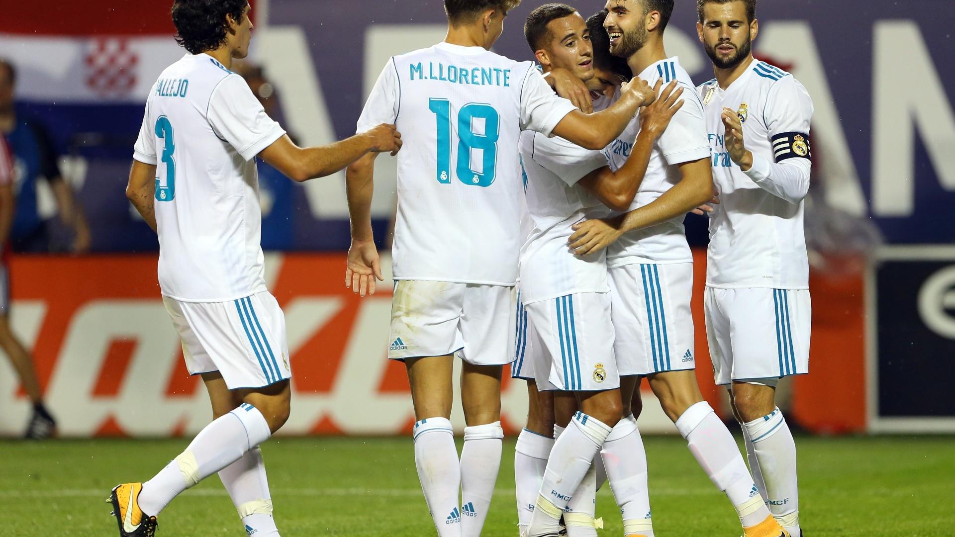 Borja Mayoral comemora gol do Real Madrid contra as estrelas da MLS
