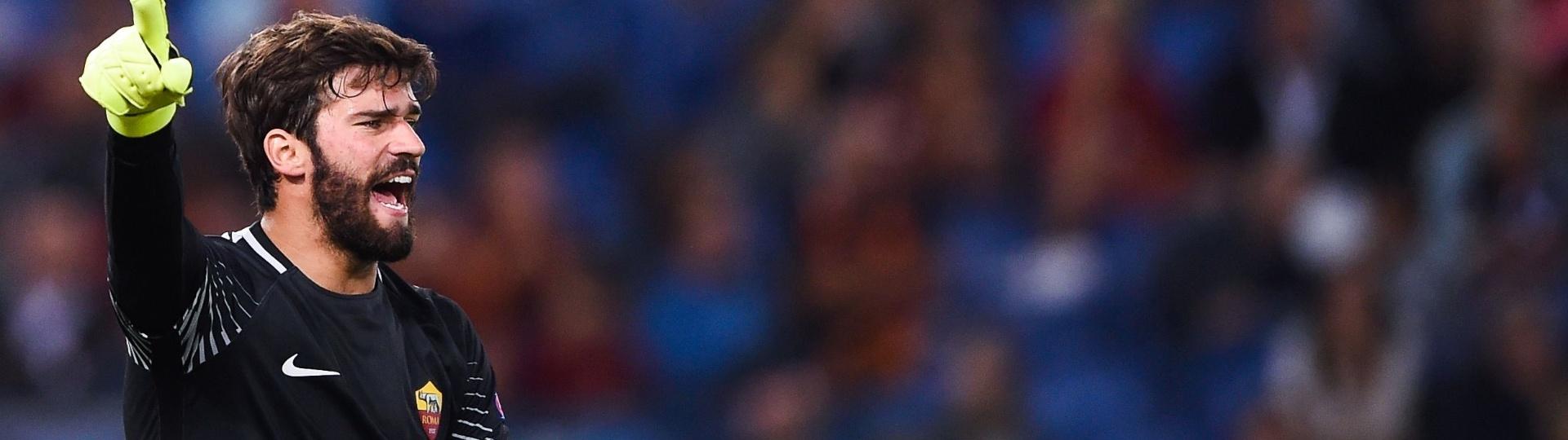 Alisson foi destaque em jogo entre Roma e Atlético de Madri