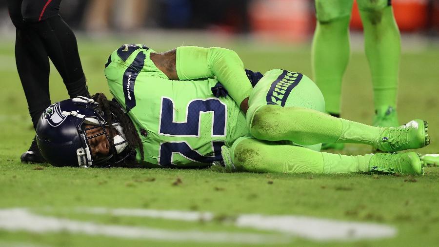 Richard Sherman sofre com dores após romper o tendão de Aquiles - Christian Petersen/Getty Images