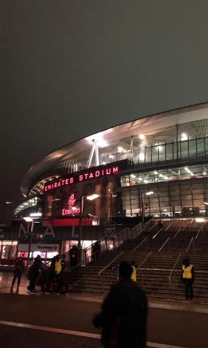 Brasil Uruguai amistoso fachada Emirates Stadium Arsenal