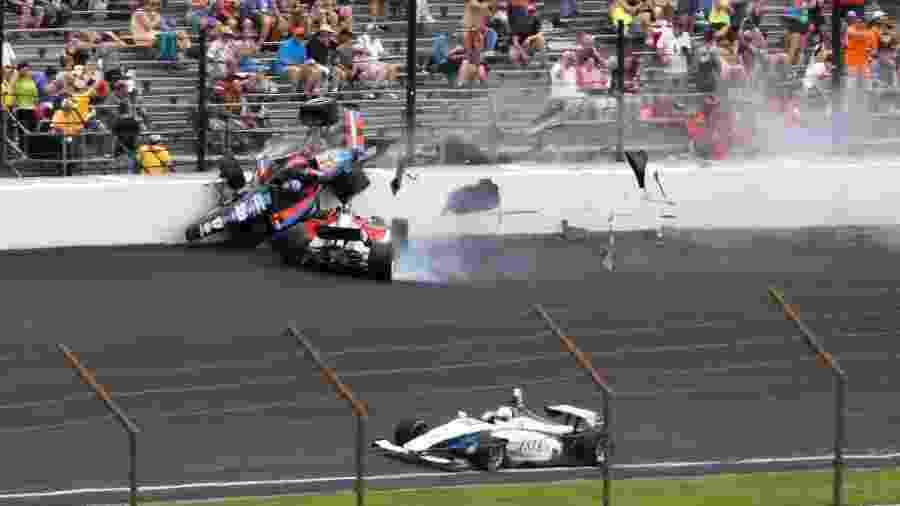 Corrida da Indy Lights em Indianápolis teve acidente forte - Mark J. Rebilas-USA TODAY Sports