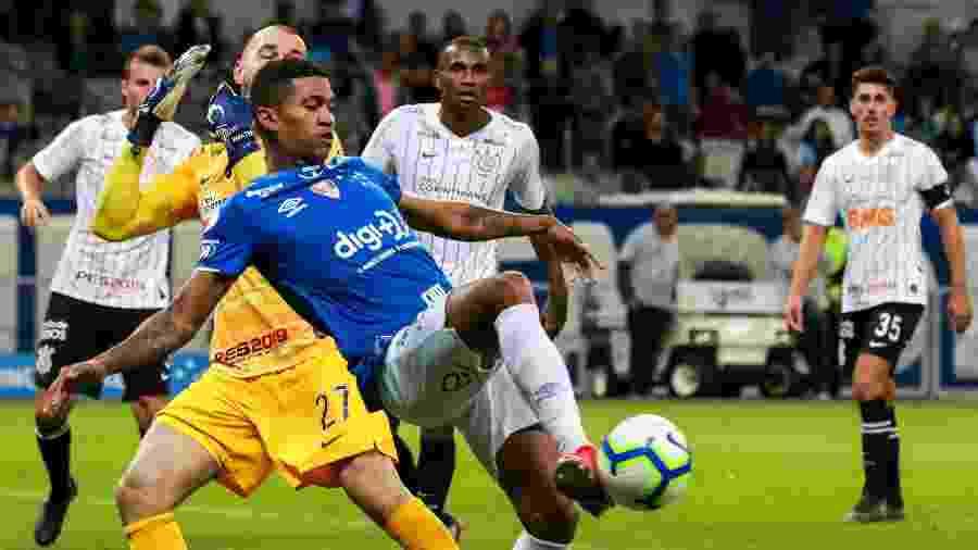 Walter, que fechou o gol contra o Cruzeiro no empate em 0 a 0 no 1º turno, substitui Cássio - Dudu Macedo/FotoArena/Estadão Conteúdo