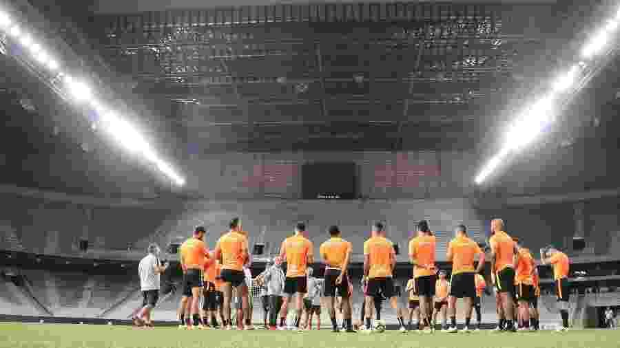 Jogadores do Inter treinam na Arena da Baixada antes de decisão da Copa do Brasil - Ricardo Duarte/Inter