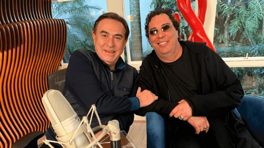 Casagrande dá entrevista para Amaury Jr. - Divulgação/RedeTV!